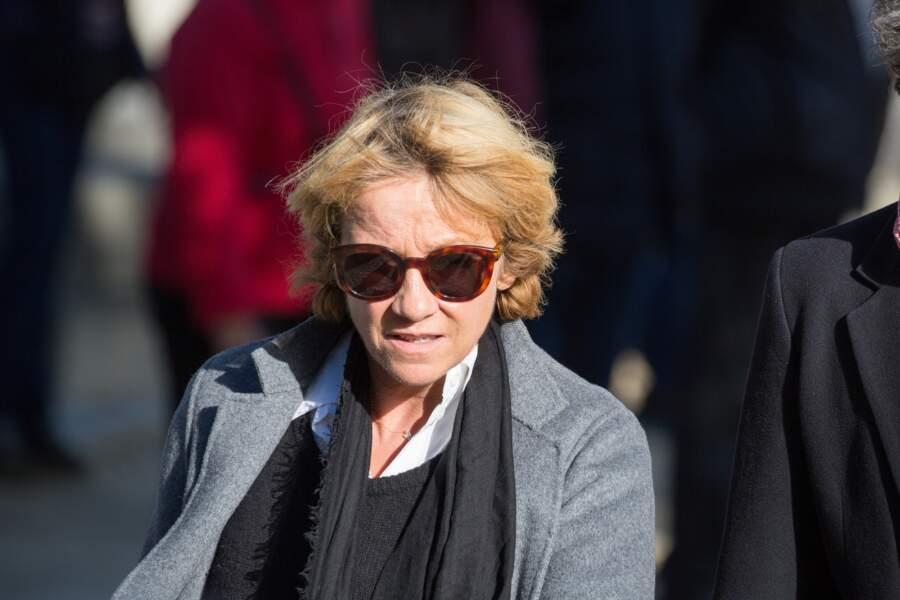 Ariane Massenet, à l'enterrement de Philippe Gildas, au cimetière du Père-Lachaise, à Paris, le 5 novembre 2018.