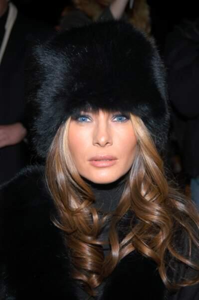 Melania Trump au défilé Michael Kors lors de la Fashion Week à New York le 7 février 2007