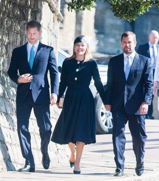 Contre toute attente, le prince Harry, arrivé après les Cambridge, était aussi au rendez-vous, ce 21 avril 2019