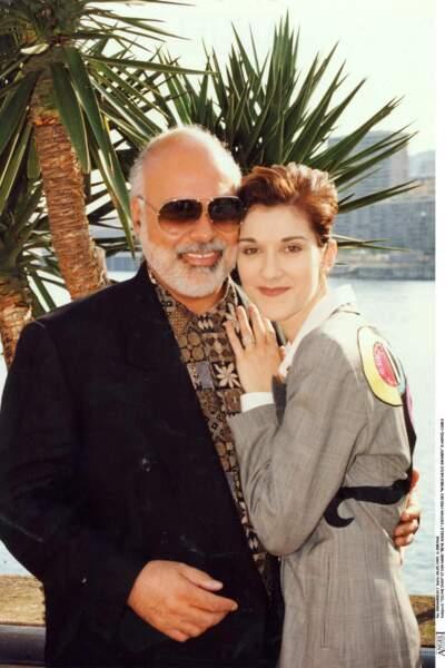 Céline Dion et René Angelil, à Monte-Carlo, en 1995