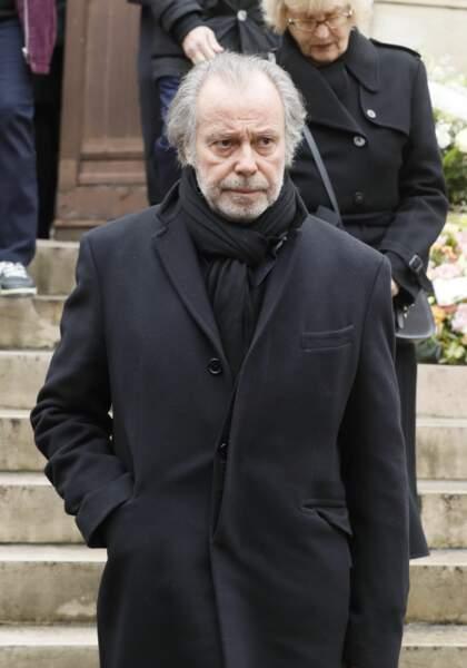 Michel Leeb aux obsèques de Michel Legrand à la cathédrale orthodoxe Saint-Alexandre-Nevsky à Paris, le 1er février