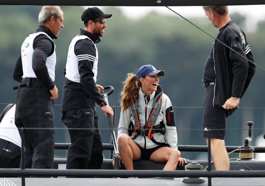 Lors de cette régate, Kate Middleton s'est également fait remarquer par sa tenue