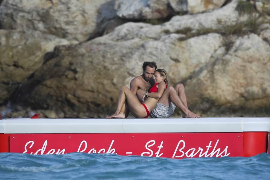 James Middleton et sa girlfriend, la Française Alizee Thevenet, à Saint-Barth, le 2 janvier 2019