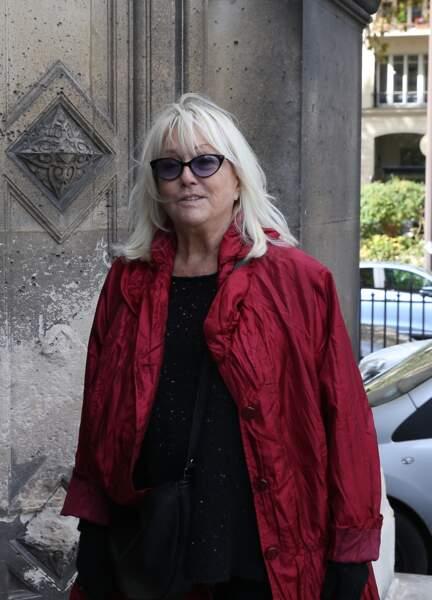 Mylène Demongeot aux obsèques ducomédien Jean Piat en l'église Saint François-Xavier à Paris le 21 septembre 2018