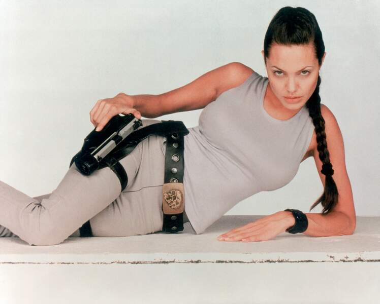 Angelina Jolie en Lara Croft dans le film Tomb Raider de Simon West, en 2001
