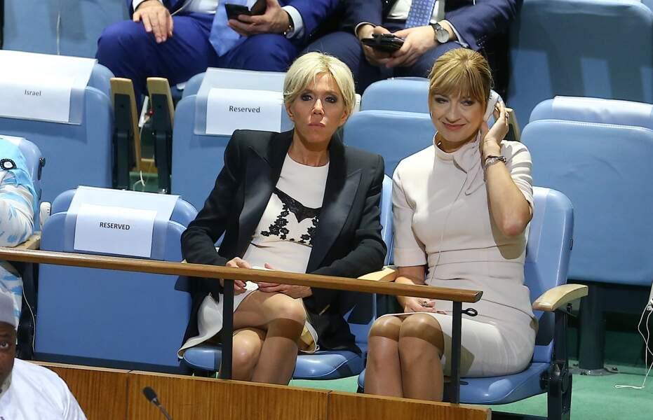 Brigitte Macron était également présente