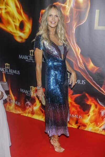 """Le top Elle McPherson (54 ans), à la soirée des """"Remus Lifestyle Night"""" à Madrid, en 2018"""