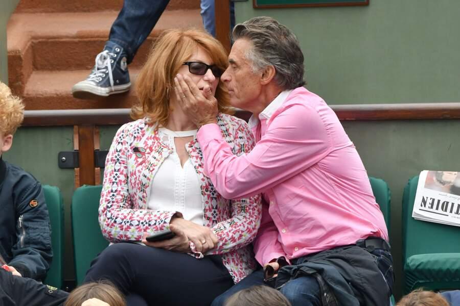 Muriel Mayette et Gerard Holtz, un couple amoureux, lors des matches de la journée du 3 juin 2017