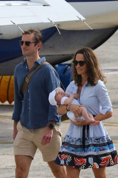 Pippa Middleton et sa famille étaient accueillis par celle de son époux James Matthews