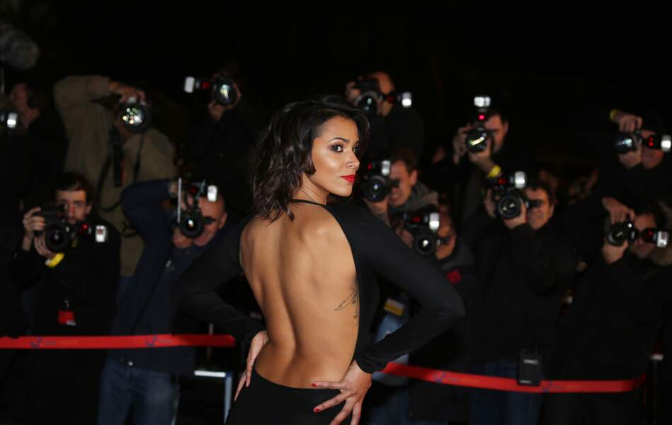Shy'm et son carré ondulé, sur le tapis rouge de la 14e édition des NRJ Music Awards à Cannes
