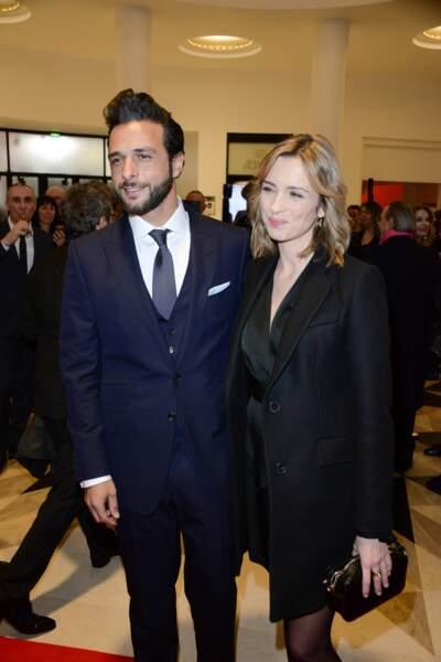 Isabelle Ithurburu et Maxime Nucci lors de la cérémonie des César.