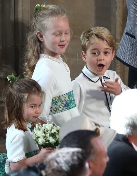 Le prince George ébahit au mariage d'Eugenie d'York