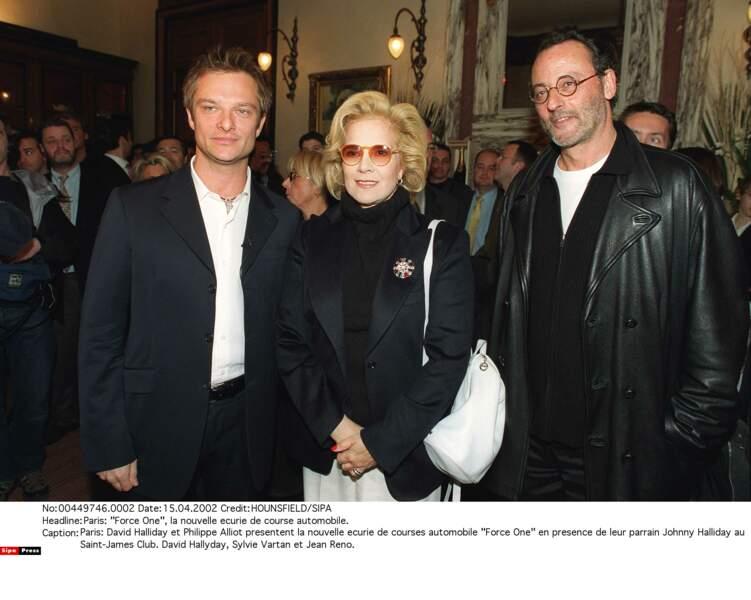 2002. David, Sylvie et Jean Reno