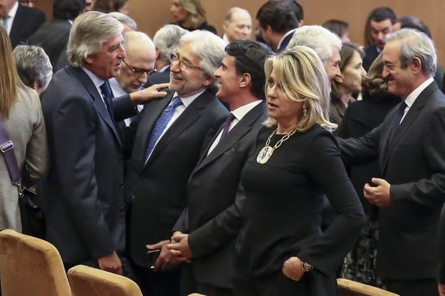 Manuel Valls et sa compagne Susana Gallardo lors de la soirée des Prix du Royaume d'Espagne pour les entreprises