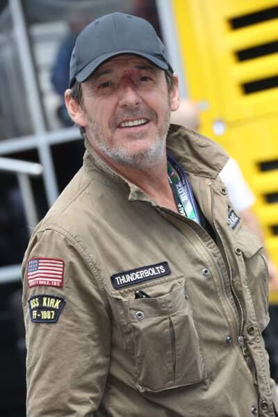 Jean-Luc Reichmann, tout sourire au Grand Prix de France au Castellet le 24 juin