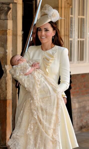 La duchesse de Cambridge et le prince George