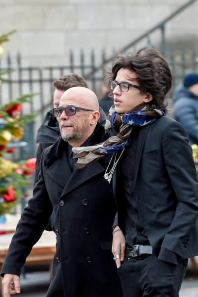 Pascal Obispo et son fils Sean