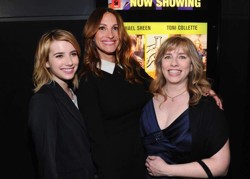 Avec sa nièce la comédienne Emma Roberts, et sa soeur Lisa Roberts Gillan en 2012 à Los Angeles