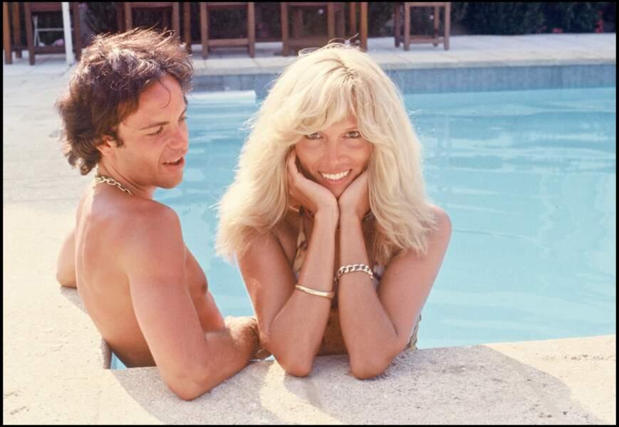 Avec son grand amour Alain-Philippe Malagnac (décédé en 2000), en 1979.