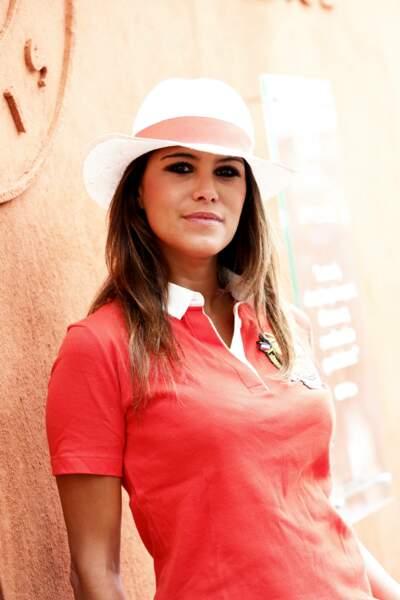 Karine Ferri au village des Internationaux de France de Roland Garros en 2014