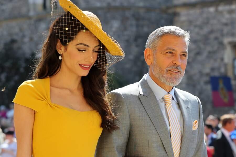 "George Clooney et sa femme Amal ou quand Hollywood débarque au ""royal wedding"""