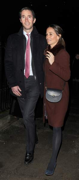 Pippa Middleton et son époux James Matthews, en chemin vers l'église St Luke de Londres, le 4 décembre 2018