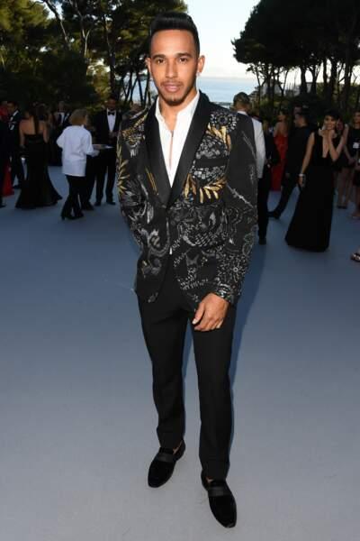 Lewis Hamilton, égérie L'Oréal Men Expert, so chic