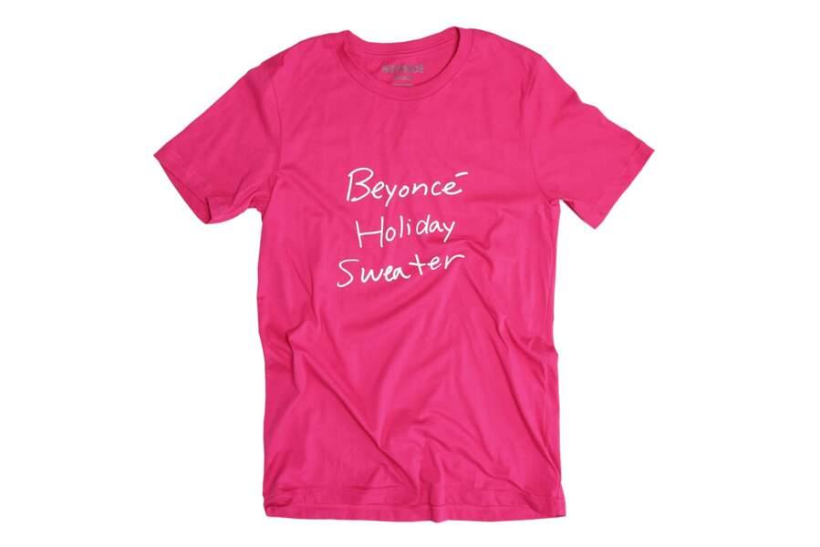 Beyoncé Knowles lance aussi des tee-shirts pour Noel