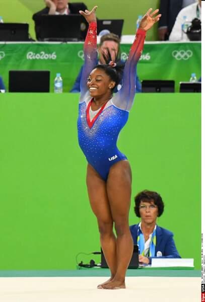 Une musculature impressionnante pour Simone Biles