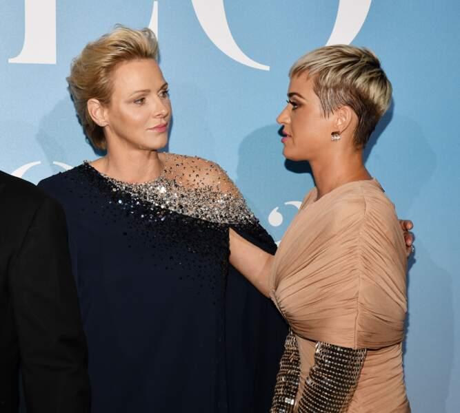 La princesse Charlene de Monaco et Katy Perry, très élégantes lors du Monte-Carlo Gala for the Global Ocean