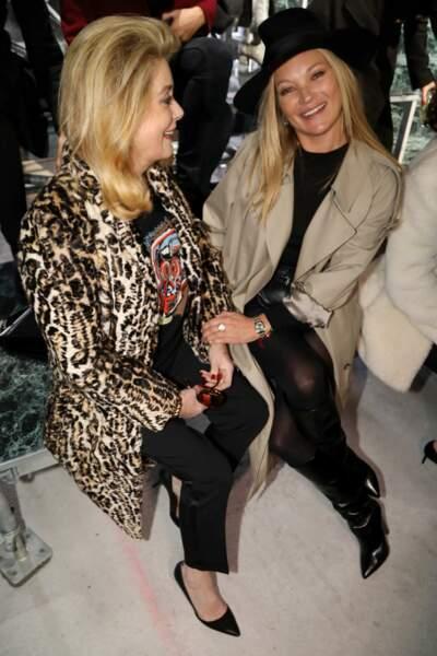 Catherine Deneuve et Kate Moss semblent très proche
