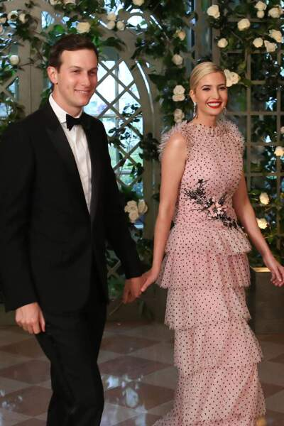 Ivanka Trump, très classe en robe Rodarte au bras de son mari Jared Kushner