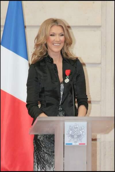 Céline Dion reçoit la légion d'honneur en 2008