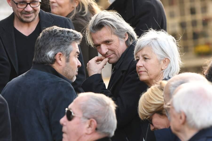 Yvan Le Bollo'ch et Annie Lemoine, au cimetière du Père-Lachaise, le 5 novembre 2018.