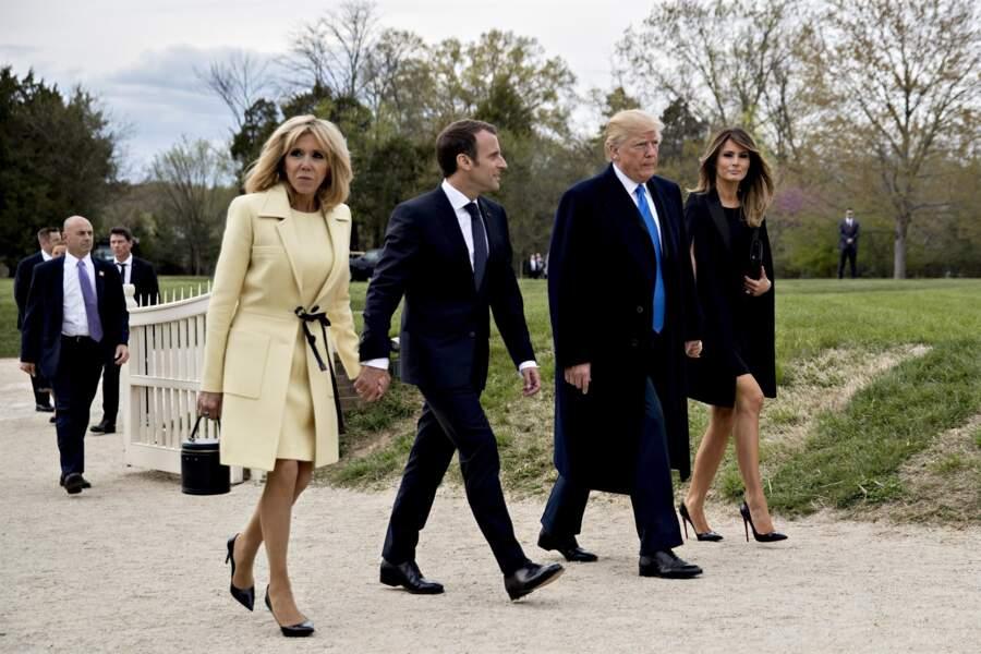Le couple Macron est arrivé à Washington le 23 avril.