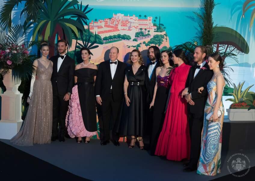 Béatrice Borromeo aux côtés de la famille royale de Monaco.