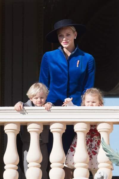 Charlene de Monaco et les jumeaux, le prince Jacques et la princesse Gabriella