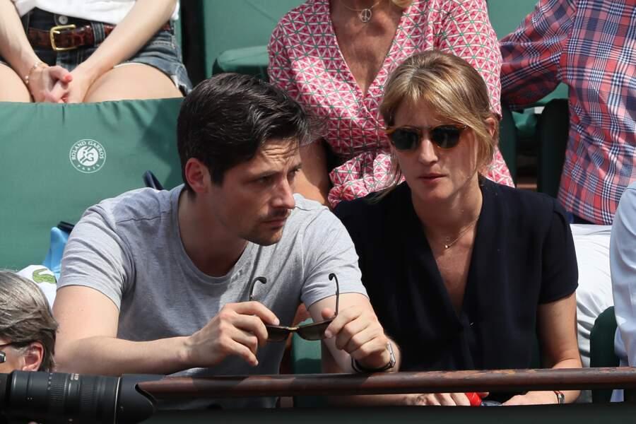 Raphaël Personnaz et sa compagne Clara à Roland Garros le 3 juin 2018