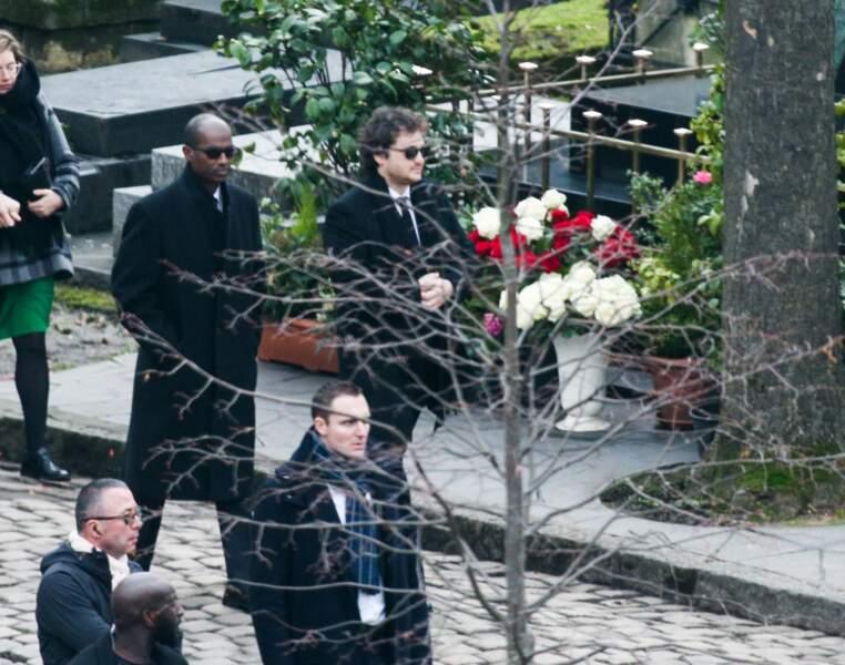 Bruck Dawit et Raphael Hamburger aux obsèques de France Gall au cimetière de Montmartre à Paris le 12 janvier 2018