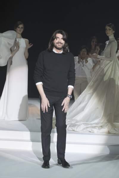 Le styliste et couturier Stéphane Rolland, créateur fétiche d'Iris Mittenaere