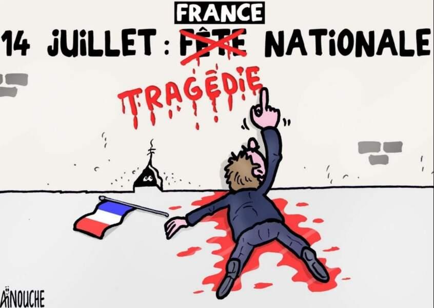 Le caricaturiste algérien Aïnouche.