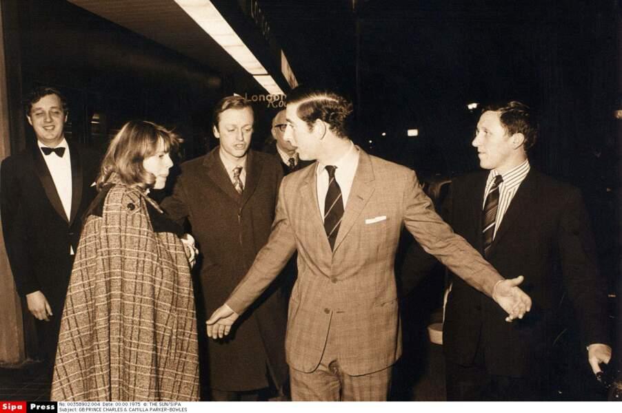 le prince Charles et Camilla Parker-Bowles en 1975