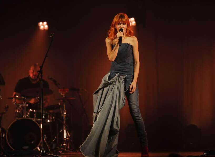 Axelle Red (51 ans), lors d'un concert au Trianon à Paris en 2018