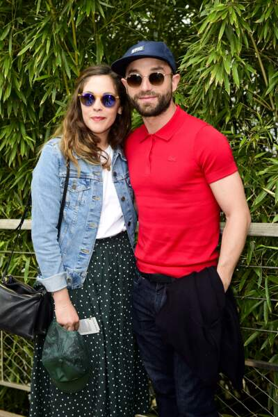 Guillaume Gouix et Alysson Paradis prennent la pose au Village de Roland Garros, le 5 juin 2017