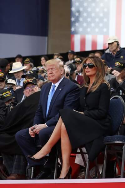Melania Trump tout en noir