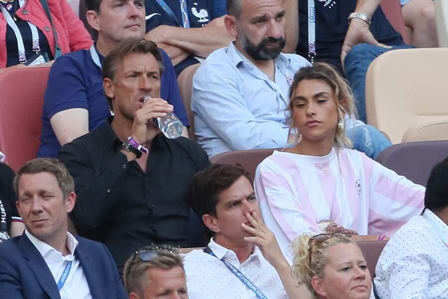 Hervé Renard et sa fille Candide Renard, supporters des Bleus