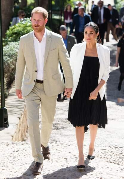 Le prince Harry et Meghan Markle à leur arrivée à Casablanca.