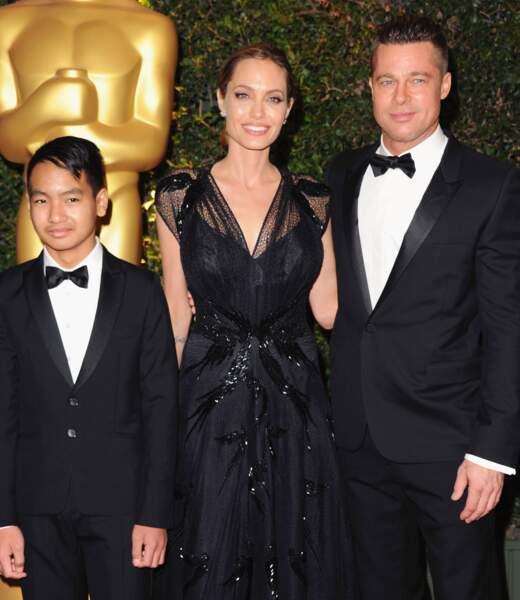 Angelina Jolie, Brad Pitt et Maddox aux Governor Awards en 2013