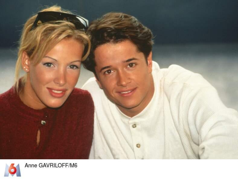 Ophélie Winter et Yves Noel, présentateurs du Hit Machine en 1994-1995
