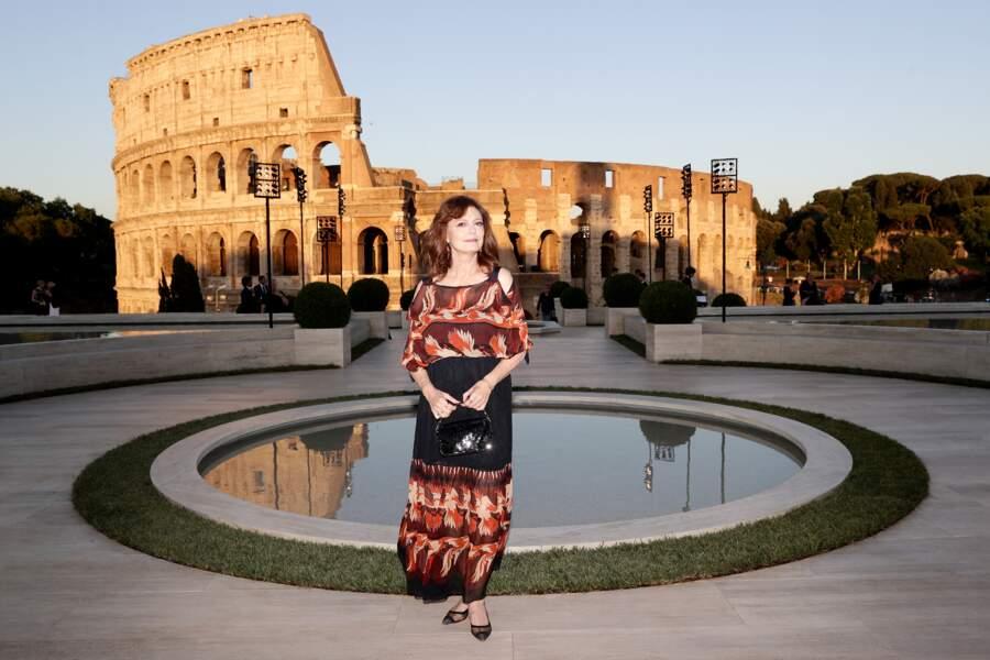 L'actrice Susan Sarandon a elle aussi assisté à la soirée Fendi à Rome.